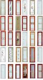 Нутряная алюминиевая дверь для виллы/ванной комнаты/санузла домов