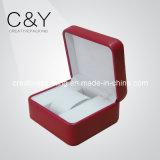 Caixa de empacotamento do relógio feito sob encomenda de couro luxuoso do plutônio do plástico