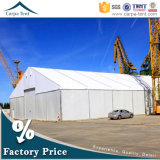 半永久的な15m Width Temporary Waterproof Fabric Warehouse Storage Tent