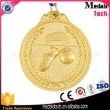 Il bronzo ha placcato intorno alle medaglie molli del premio di gioco del calcio dello smalto del metallo