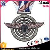 安い習慣は柔らかいエナメルの金属のマラソンに連続したスポーツメダルを与える