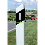 Guia Triangle Double Side de plástico PVC Reflective Road Post