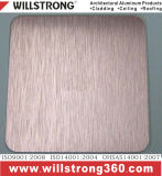 Le cheveu composé en aluminium de panneau a balayé