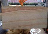Revestimento de madeira da parede do Sandstone do Teak