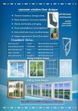 Het witte Venster van pvc van het Glas van het Frame Enige Goedkope