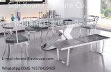 Leatherette bianco geometrico di Moder che pranza presidenza per la mobilia del salone