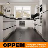 Houten Keukenkast van de Lak van Australië van Oppein de Witte voor Villa (OP15-L28)