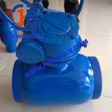 Válvula de esfera montada eixo da solda do aço de molde de API6d/DIN Wcb