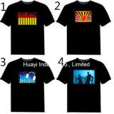 Загораясь рубашки СИД EL проблескивая
