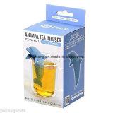 ケイ素の動物の茶Infusersの茶漉しのバンドウイルカ3.7X10.6X5.8cm