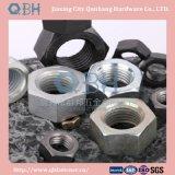 Noix DIN555 Hex avec de l'acier du carbone (ordinaire, noir, zinc planté)