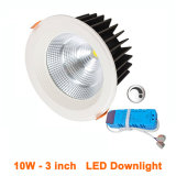 Dimmable 10WはDownlightsの95mm切られた穴を飾った