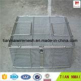 중국 공급자 Ss304 스테인리스 철망사 바구니 또는 저장 바구니