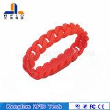 Vario Wristband rojo del silicón de las virutas RFID para bañar centros