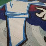 鮮やかな図形自己接着壁カバーの壁画の印刷をカスタム設計しなさい
