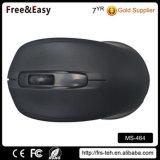 Ratón negro atado con alambre USB del ordenador de la marca del color