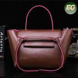Signora di vendita calda Bag di colore di contrasto delle borse del progettista del Tote con il marchio stampato abitudine Emg5035