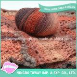 Compagnies de filé tricotant à la main le filé d'écharpe de chandail de laines de configurations