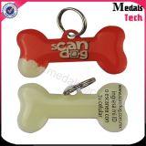 Libérer les étiquettes de crabot faites sur commande en gros en métal de modèle avec le collier de bille