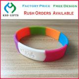 Logotipo personalizado da empresa desportiva Fornecimento de pulseiras de silicone