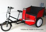 E-Rikscha-Dreirad mit Energien-Vorlage
