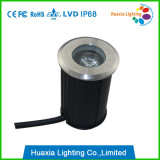 IP68 1W mini acero inoxidable LED luz subterránea