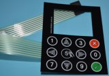 Circuito flexível alfanumérico do interruptor de membrana do teclado com adesivo de 3m