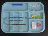 Bandeja de instrumento dental autoclavável