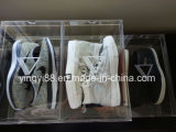Le meilleur étalage acrylique de vente de chaussure avec le logo