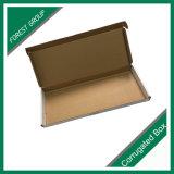 Caixa de embalagem branca do cartão ondulado para a placa de licença