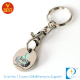 Trousseau de clés/boucle symboliques de pièce de monnaie d'achats de supermarché de chariot en gros en métal