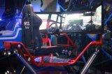 6 Dof 동적인 플래트홈 공급자와 가진 흥분 3개의 스크린 경주용 차 기계