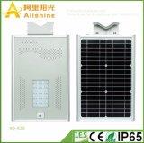 20W réverbère solaire Integrated fonctionnant élevé économiseur d'énergie neuf de la température DEL avec le contrôle de temps pour le jardin