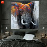 Peinture à l'huile épaisse d'éléphant de Hnadmade de texture