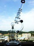 """Elektronische Sigaret 12 """" Rechte Buis met de Enige Pijp van het Glas van de Basis van de Beker Downstem van de Pijp van het Glas van Perc van de Schijf Rokende Verwijderbare"""