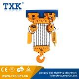 alzamiento de cadena eléctrico 10ton con la suspensión del gancho de leva