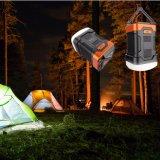 Combo campant rechargeable de côté de pouvoir de lanterne d'arrivée de modèle neuf de mode pour la tente