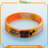 Bracelete de borracha do silicone da forma com presente