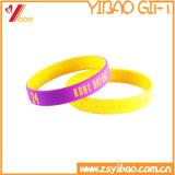 Braccialetto su ordinazione poco costoso del silicone (YB-AB-007)
