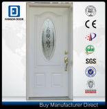 Petite porte en acier insérée de modèle par glace décorative ovale