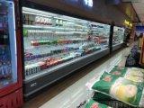 O supermercado usou o refrigerador/refrigerador/refrigerador abertos do indicador do produto de Multideck
