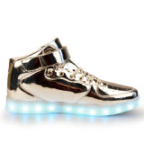 Unisex Women Men USB Charging Light Deslizante Sneakers Sapatos LED