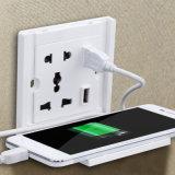 Wand-Energien-Anschluss-Kontaktbuchse-Zubehör mit 2 Kanäle USB-Aufladeeinheits-Handy-aufladenstandplatz