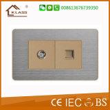1 ذراع عتلة 2 طريق كهربائيّة جدار مفتاح