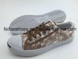 Chaussures d'injection de toile de lacet de chaussures avec la bonne qualité, chaussures d'espadrille de sports, vente en gros de chaussures (FFCS112106)