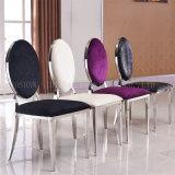 Античная нержавеющая сталь обедая стул, стул PU кожаный античный обедая