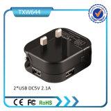 5V 2A conjuguent les ports USB véhicule et le chargeur de mur
