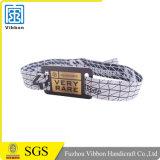 Billig kundenspezifischer umsponnenes GewebeRFID Wristband
