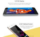 en oro elegante del teléfono de Oukitel U7 del teléfono móvil 5.5 de la pulgada HD de la pantalla Mtk6580A del patio de la base 1g del RAM 8g de la ROM 8MP de la cámara del teléfono máximo común del androide 6.0 3G WCDMA