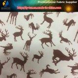 고라니 또는 Sika 사슴은 의복 (YH2148)를 위한 폴리에스테 견주 직물에 인쇄했다